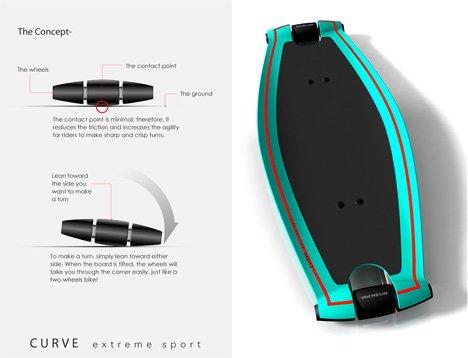 Curve Extreme Sport concept