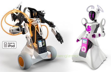 Skypee Vox and Skype Miss Voice-Activated Robots