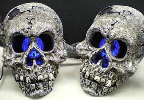 Skull Speakers Look Creepy