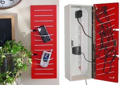 Contactbox stores away wires