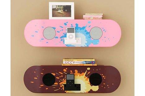 Skateboard Speaker Shelf