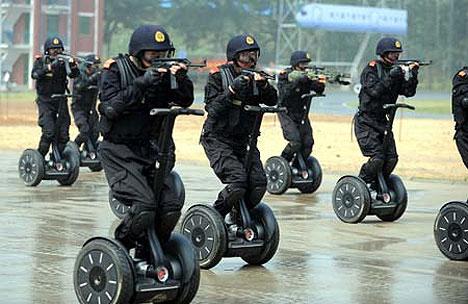 Chinese Anti Terror Unit Use Segways… Wait, What?