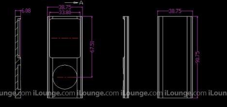 iPod nano 4G Dimensions