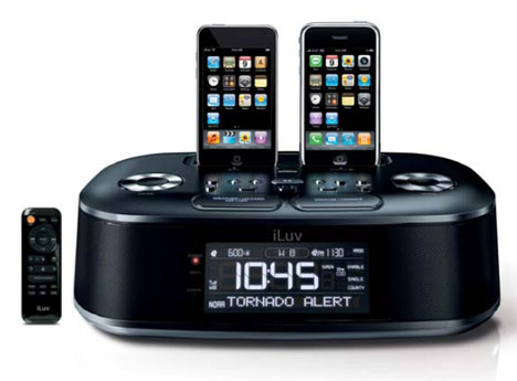 iLuv iMM183 Dual iPhone Alarm Clock with FM Radio
