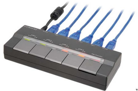 USB hub with switches