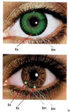 Color-changing contact lenses for diabetics