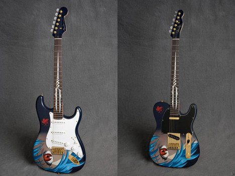 Limited edition Evangelion Fenders