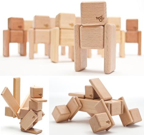 Tegu Magnetic Wooden Building Blocks
