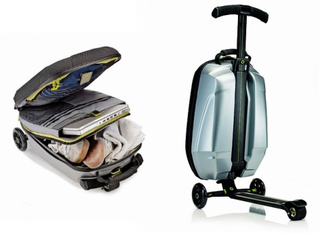 Luggage Transforms Into Scooter