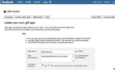 LOLapps: Create Your Own Custom Gift App on Facebook
