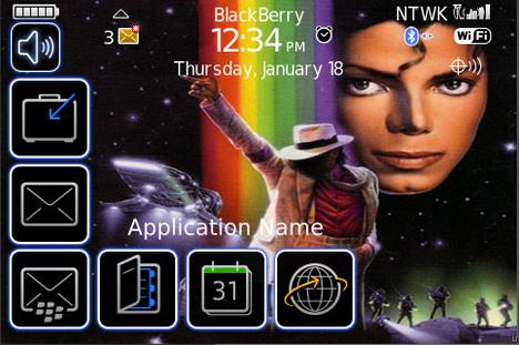 BlackBerry 9000 Michael Jackson Theme