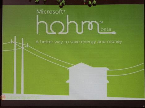 Microsoft Hohm: Energy Conservation 2.0