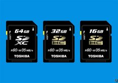 Toshiba 64GB SDXC memory card fastest in the world