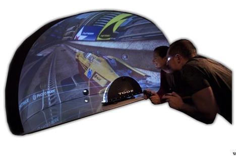 T.O.O.B. omni-directional digital dome screen