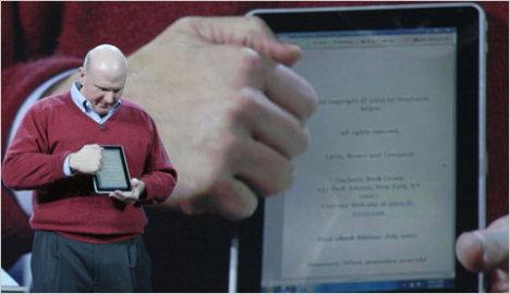 HP Windows 7 Slate Unveiled By Steve Ballmer