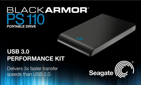 Seagate BlackArmor PS110 USB 3.0 portable hard drive