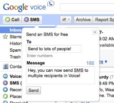 Google Voice Now Allows You To Send To Multiple Recipients