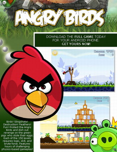 Angry Birds for Android cheat allows you to access locked levels earlier on