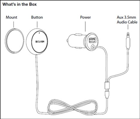 Belkin AirCast Auto Adapter Visits The FCC
