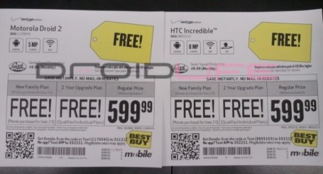 Droid 2 And HTC Incredible On Offer During Best Buy's Free Phone Friday