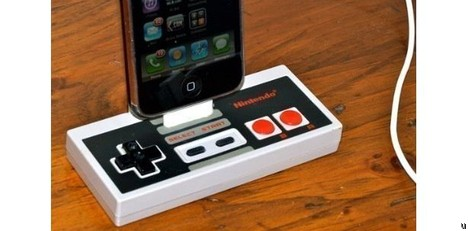 Rock Dock iPhone charging dock is handmade, looks cute