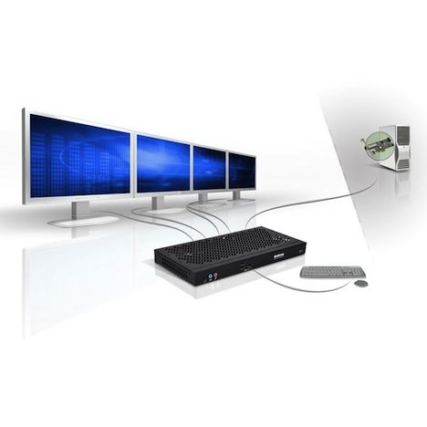 Matrox KVM Extender Supports 4 Displays and Uber-Long 1 KM Extension Cable