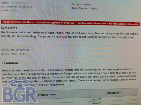 Monster Headphones Causing Problems With iPhone, iPads and iPods