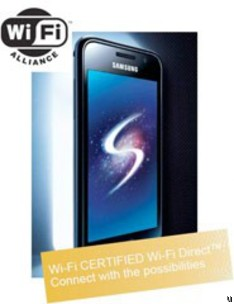 Samsung Galaxy S is Wi-Fi Direct certified