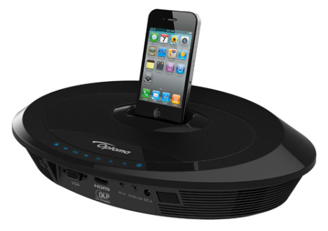 Optoma Neo-i iPhone/iPod Dock Features A Built-in Pico Projector