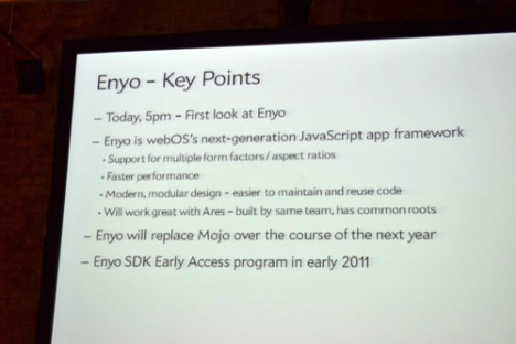 Palm's Enyo Framework To Spur Tablet And High-end Phone App Development