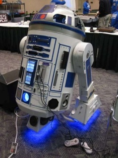 R2-D2 Casing Houses 10 Consoles And A Projector