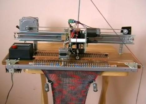 DIY Robot Knitting Machine
