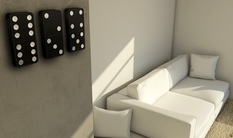 Domino Clock tells time while looking great