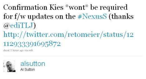 Nexus S To Get OTA Updates, No Need For Samsung Kies