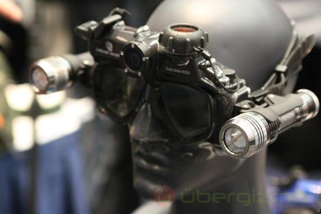 Liquid Image Scuba Mask HD322 with 135 degree Wide Angle Camera