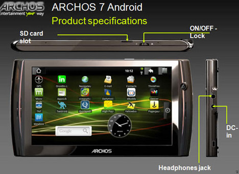 Archos has couple of Android-powered tablets in the pipeline