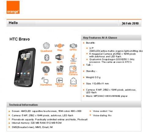 HTC Bravo Hitting Orange In March?