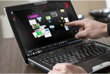 Toshiba Satellite U500-1EX laptop has multitouch display