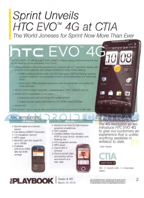 Presale Of The HTC EVO 4G In May?