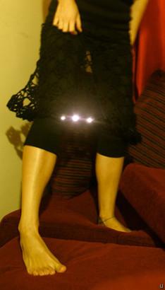 LED skirt lights up the night