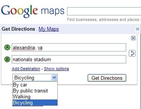 Google Maps Adds Biking Directions