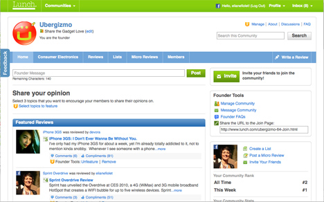 Lunch.com Launches Communities: Yelp meets WordPress meets Wikipedia