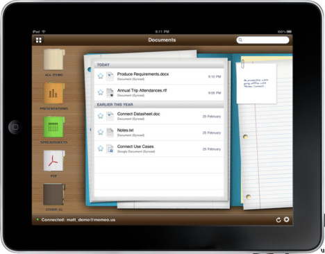 Google Apps Users: Memeo Connect Reader for iPad will be free