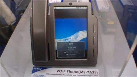MSI Shows Off MS-9A31 VoIP Phone At CeBIT