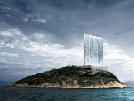 Solar City Tower Uses An Urban Waterfall To Generate Energy