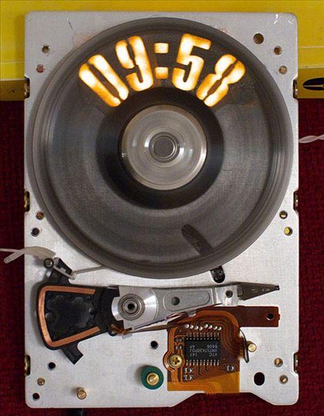 Strobeshnik Hard Drive Clock
