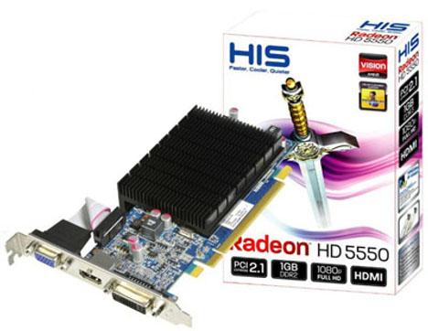 HIS Radeon HD 5550 Low Profile Graphics Card
