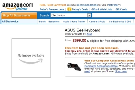 Asus EeeKeyboard Is Now Up For Pre-order On Amazon