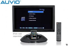 Auvio introduces LCD TV with iPod dock