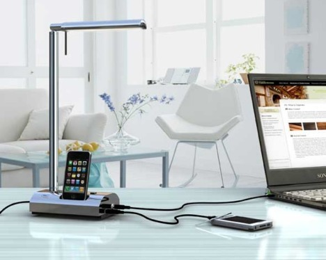 T'Light Desktop Lamp Helps To Keep Your Gadgets Charged